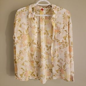 100% Organic Cotton Floral Button Down